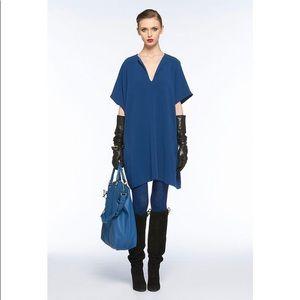 Diane von Furstenberg blue Squaretan dress tunic S